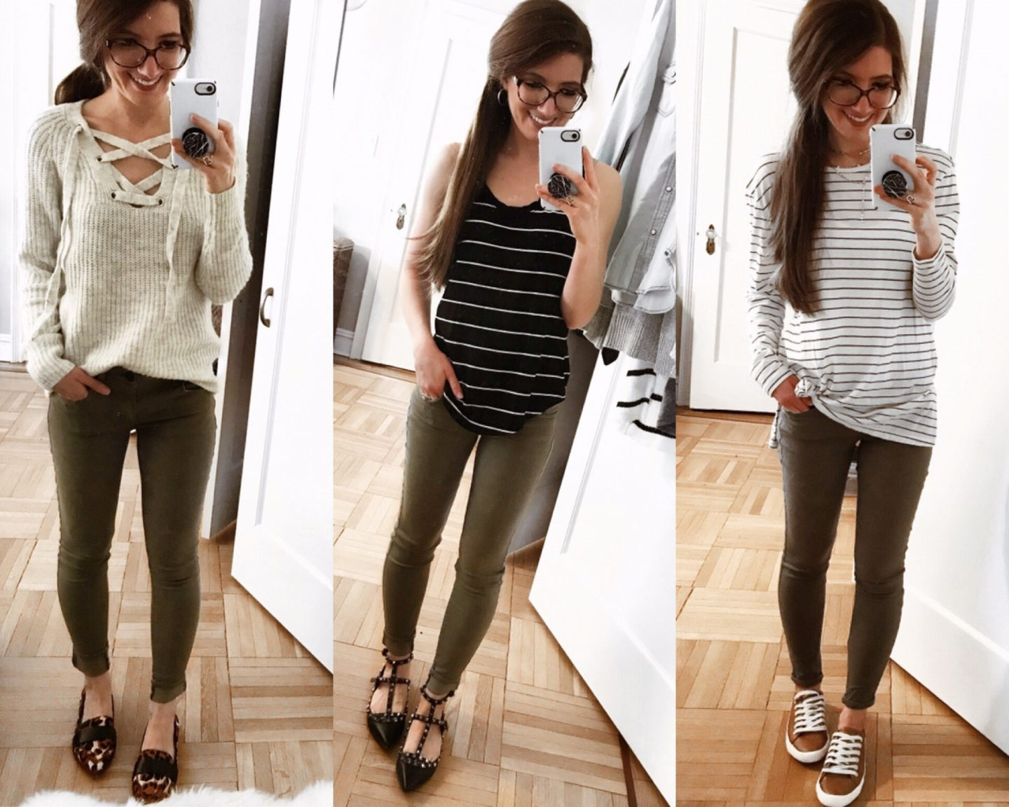 Ways to wear green skinnies
