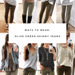 Olive Green Skinny Jeans Outfit